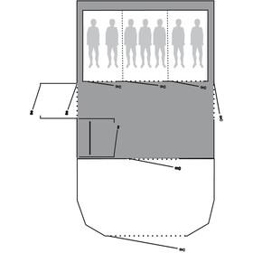 Outwell Footprint Accessori tenda Vermont 7SA grigio